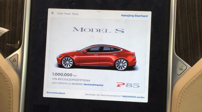 Tesla Model S 1 million km