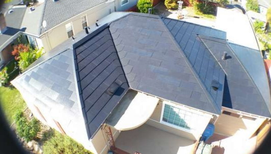 Tesla Solar Roof next day